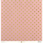 Anna Griffin - Juliet Collection - 12 x 12 Paper with Foil Accents - Dot - Pink