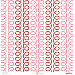 Anna Griffin - Juliet Collection - 12 x 12 Paper - Curly Q - Pink