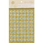 Anna Griffin - Francesca Collection - Epoxy Stickers - Typewriter Alphabet