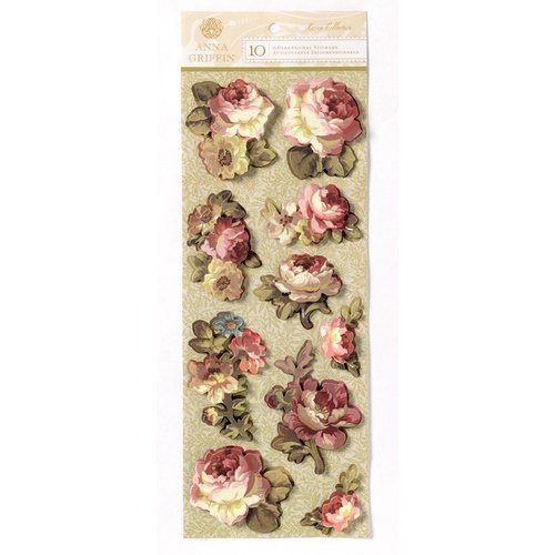 Anna Griffin - Haven Collection - 3 Dimensional Cardstock Stickers - Art