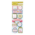 Anna Griffin - Hope Chest Collection - 3 Dimensional Cardstock Stickers with Foil Accents - Titles