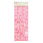 Anna Griffin - Isabelle Collection - Glittered Chipboard Stickers - Alphabet, CLEARANCE