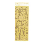 Anna Griffin - Calisto Collection - Glittered Chipboard Stickers - Alphabet