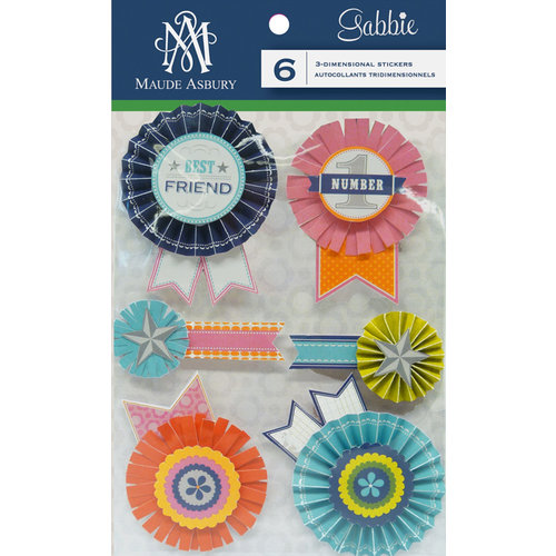 Anna Griffin - Gabbie Collection - 3 Dimensional Stickers - Rosettes