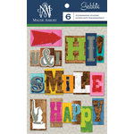Anna Griffin - Gabbie Collection - 3 Dimensional Stickers - Letterpress Words