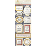 Anna Griffin - Jolie Collection - 3 Dimensional Stickers with Foil Accents - Title