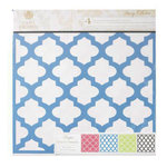 Anna Griffin - Darcey Collection - 12 x 12 Designer Die Cut Paper - 4 Sheets