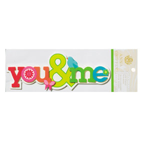 Anna Griffin - Isabelle Collection - Glittered 3 Dimensional Stickers - You and Me, CLEARANCE