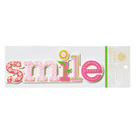 Anna Griffin - Isabelle Collection - Glittered 3 Dimensional Stickers - Smile, CLEARANCE