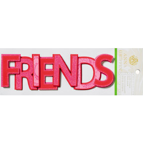 Anna Griffin - Isabelle Collection - Glittered 3 Dimensional Stickers - Friends, CLEARANCE