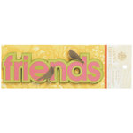 Anna Griffin - Carmen Collection - Foiled 3 Dimensional Stickers - Friends