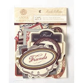 Anna Griffin - Honoka Collection - Foil Die Cut Pieces - Word