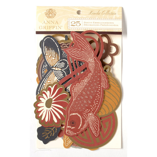 Anna Griffin - Honoka Collection - Glitter Die Cut Pieces