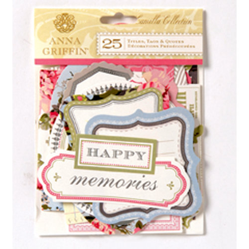 Anna Griffin - Camilla Collection - Foiled Die Cut Pieces - Words