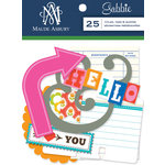 Anna Griffin - Gabbie Collection - Foiled Die Cut Pieces - Titles