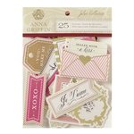 Anna Griffin - Juliet Collection - Die Cut Cardstock Pieces - Sentiments