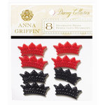 Anna Griffin - Darcey Collection - Decorative Brads - Crowns, CLEARANCE