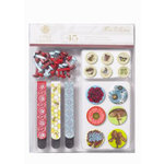 Anna Griffin - Flora Collection - Brads and Clips Set, CLEARANCE