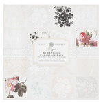 Anna Griffin - Georgette Collection - 12x12 Flocked and Glittered Cardstock Pack