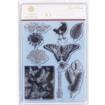 Anna Griffin - Flora Collection - Clear Acrylic Stamp Set, CLEARANCE
