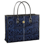 Anna Griffin - Darcey Collection - Fabric Tote Bag - Blue Black Chain Link, CLEARANCE