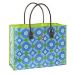 Anna Griffin - Isabelle Collection - Fabric Tote Bag - Blue Circles