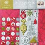 Anna Griffin - Dorothy Collection - Christmas - Holiday - Scrapbook Page Kit