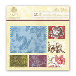 Anna Griffin - Flora Collection - 12 x 12 Flocked and Die Cut Cardstock Pack, CLEARANCE