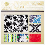 Anna Griffin - Darcey Collection - 12 x 12 Flocked and Die Cut Cardstock Pack