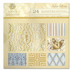 Anna Griffin - Calisto Collection - 12 x 12 Double Sided Glittered and Metallic Cardstock Pack