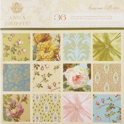 Anna Griffin - Francesca Collection - 12 x 12 Designer Paper Pack