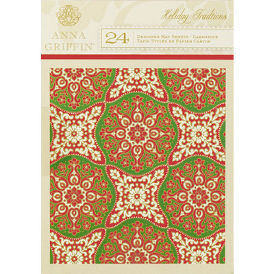 Anna Griffin - Holiday Traditions Collection - Christmas - 5 x 7 Cardstock Mat Pack