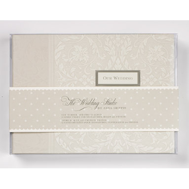 Anna Griffin - The Wedding Studio by Anna Griffin - Guest Book and Photo Album - Platinum, BRAND NEW