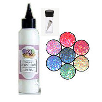 Art Institute Glitter - Art Glitter - Basic Kit with Glitter Glue and Six Colors - Rio