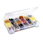 Craft Design - Storage Case - Large with 2 Fixed Dividers - Clear