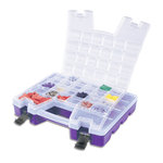 Craft Design - Portable Dual Craft Organizer - Clear and Purple