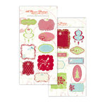 Autumn Leaves - A Rhonna Christmas Collection by Rhonna Farrer - Chipboard Panels and Icons, CLEARANCE