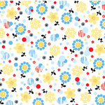 Autumn Leaves - Mod - Primary Collection - Patterned Paper - Daisy Burst