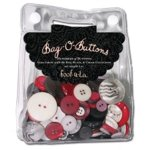 Autumn Leaves - Foofala - Red -  Black and Cream Collection - Bag-O-Buttons