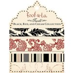 Autumn Leaves - Foofala - Red - Black and Cream Collection - Twill Card