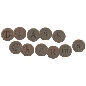 Digital Alphabet (Download)  - Brass Charms - Circle