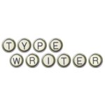 Digital Alphabet (Download)  - Typewriter Keys - Silver