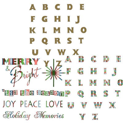 Digital Alphabet (Download)  - Tis the Season