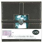 All My Memories Urban Chic Accordion Album 4x4 - Black