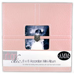 All My Memories Urban Chic Accordion Album 6x6 - Pink, CLEARANCE