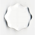 Apple Pie Memories - Acrylic Stamping Block - Round 2.5 Inch - With Finger Grips and Guide Lines