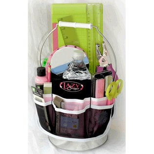 Across The Street - Lazy Scrapper Organizer - Pink and Black, CLEARANCE