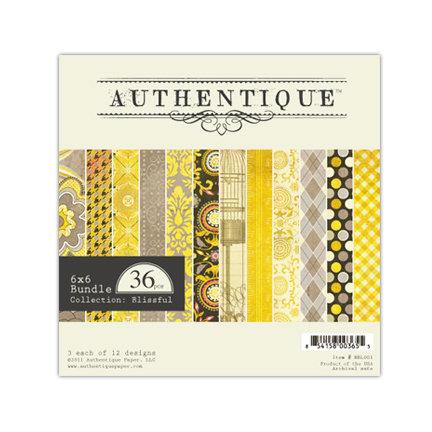 Authentique Paper - Blissful Collection - 6 x 6 Paper Bundle