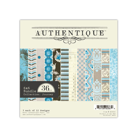 Authentique Paper - Journey Collection - 6 x 6 Paper Bundle