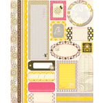Authentique Paper - Blissful Collection - Die Cut Cardstock Pieces - Tabloids